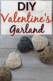 diy valentine s day garland string heart banner