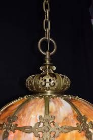 victorian antique chandelier slag glass hanging lamp for