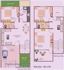 house plan for 20 feet by 45 feet plot luxury 30 elegant home plan