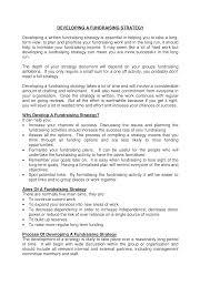 Fundraising Plan Template Strategic Development Fundraising Plan Templates At