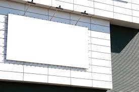 blank mockup outdoor advertising