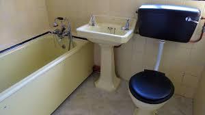 vintage reclaimed 1950s bathroom royal doulton cast iron bath