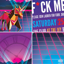 retro s s rave flyer style party invitation wedfest retro rave flyer birthday party invite