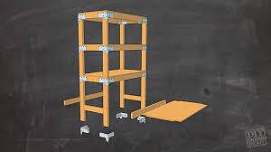 diy garage shelves 2x4 heavy duty shelving unit