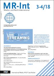Verlag Medien und Recht | Medien und Recht International (MR-Int)