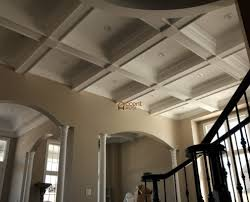 ... Box patterned ceiling design ...
