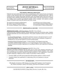 Resume For Nonprofit Professional Resume Templates