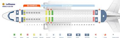 Airbus A320neo Seating Chart Seat Map Airbus A320 200 Lufthansa Best Seats In Plane