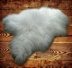 white furry rug faux bear skin rug large faux fur rug