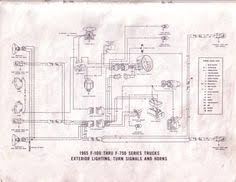 ford truck technical drawings and schematics section h wiring 1966 Ford F100 Dash Wiring Diagram 1965 f 100 thru f 350 exterior lighting, turn signals and horn Wiring Diagrams for 1966 Ford Pick Up V8