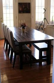 farm dining room table. farmhouse dining table and bench {i love everything she did farm room l
