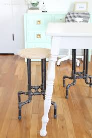 learn how to make these awesome diy industrial pipe stools for your kitchen or office with