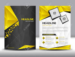 Templates For Brochure Black And Yellow Business Brochure Design Layout Template Brochure