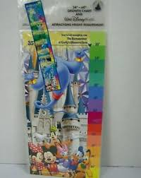 Wdw Height Chart Details About Disney Parks Growth Chart Ride Height Requirements Walt Disney World Child