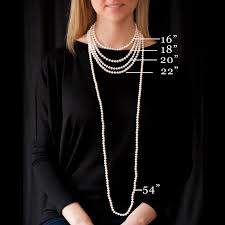 Chain Length Chart Inches What Length Pearl Necklace Should I Buy The Pearl Girls