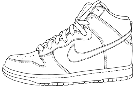Fun assortment of shoes coloring page. Nike Coloring Pages Coloring Home