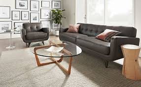 Attractive Room And Board Leather Sofa Anson Leather Sofa Chair With Dunn  Table Room Rb