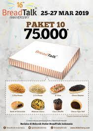 Wow Rayakan Anniversary Breadtalk Promo Semua Roti Rp 7500