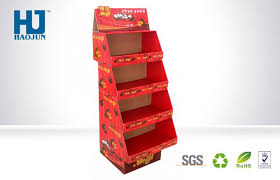 Display Stand Hs Code Sandwich Biscuit Cardboard POP Up Display Stand With 100 pallets 4