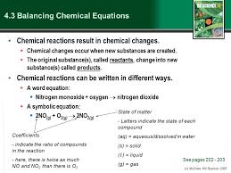 4 3 balancing chemical equations