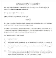 annual maintenance contract format for machine hvac installation contract cover letter samples cover