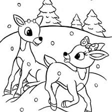 Small Picture Christmas Reindeer Colouring Pages and Printable Sheets Santas