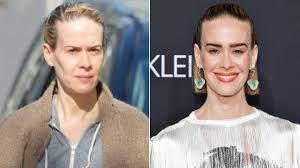 sarah paulson without and with makeup