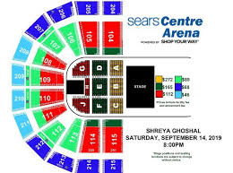 Sears Centre All In Seating Chart Events Shreya Ghoshal Live In Concert 1 Sears Centre
