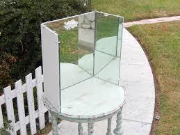Three Way Vanity Mirror Vintage Vanity Mirror Three Way Mirror Shabby Vanity