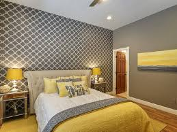 room ideas chic yellow and grey bedroom
