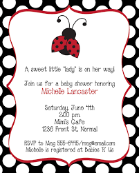 Ladybug Baby Shower InvitationsFree Printable Ladybug Baby Shower Invitations