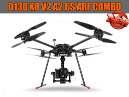 foxtech hobby your one stop shop for multicopter fpv uav dji t d130 x8 v2 a2 6s arf combo