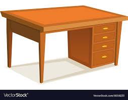 Wooden office table Old Cartoon Office Desk Vector Image 2marsinfo Cartoon Office Desk Royalty Free Vector Image Vectorstock