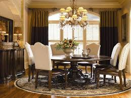 round dining room furniture. Stunning Design Of The Dining Room Table Decor With White Fabric Seat Ideas Added Black Round Furniture