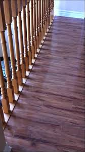 laminate floating floor installation with sill plate stairs you