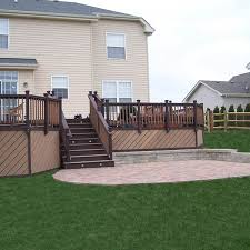Home Paver Patio With Deck Imposing In Home Paver Patio With Deck