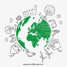 Sketchy Earth For Earth Day Vector Free Download