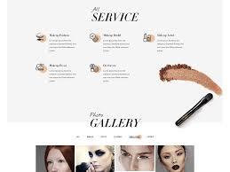 bnb best wordpress theme for makeup artist landing page
