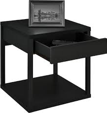 leick chairside lamp table with drawer antique black small end tables for living room