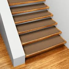 Carpet treads for steps Curved Set Of 15 Skidresistant Carpet Stair Treads Toffee Brown House Home More Carpet Stair Treads In Attachable Or Skidresistant 12 Colors