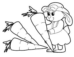 Animal Coloring Coloring Cute Animal Coloring Pages For Kids Rabbit