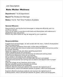 5 6 Restaurant Servers Job Description Developersbestfriend Com