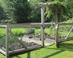 vegetable garden fence designs