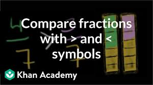 Big Fraction Chart Comparing Fractions With And Symbols Video Khan Academy