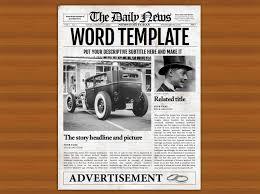 Microsoft Newspaper Article Template 002 Template Ideas Free Old Newspaper Microsoft Singular