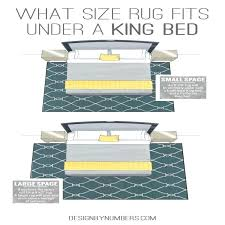 9x12 rug under king bed what size rug fits under a king bed design by numbers