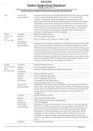 ndt resume samples fresh ndt resume and inspector resume sample inspector