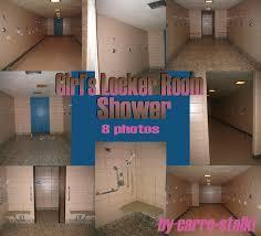 Teens showers locker room