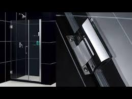 dreamline unidoor 45 46 inch frameless hinged shower door in chrome with 2 integrated glass shelves