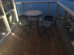 Balcony lighting Modern Floor Lighting Terrace Creations Floor Lighting For Small Condo Balcony In Toronto Terrace Creations